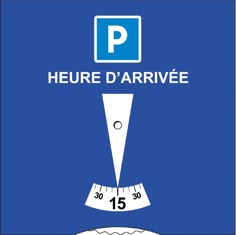 disque de stationnement européen 15x15 France recto
