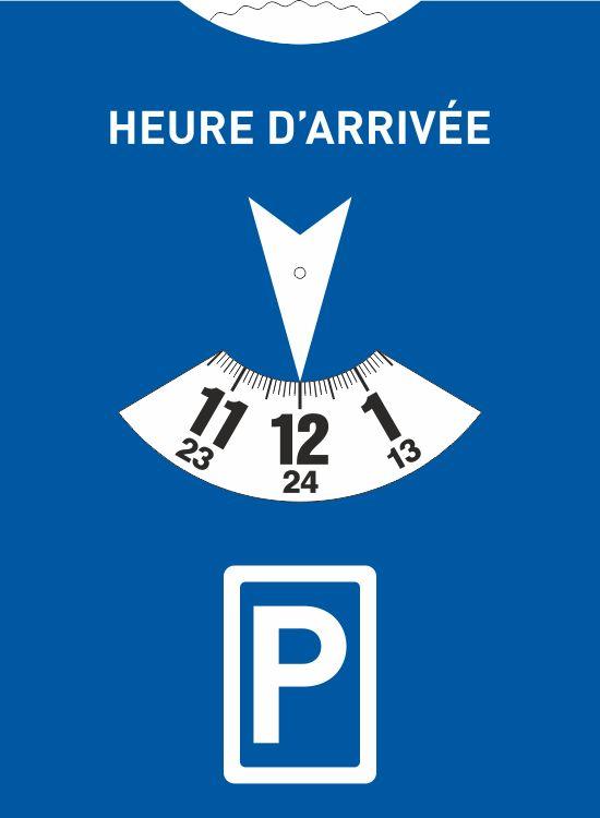 Disque de stationnement européen 15x11 pour l'Europe