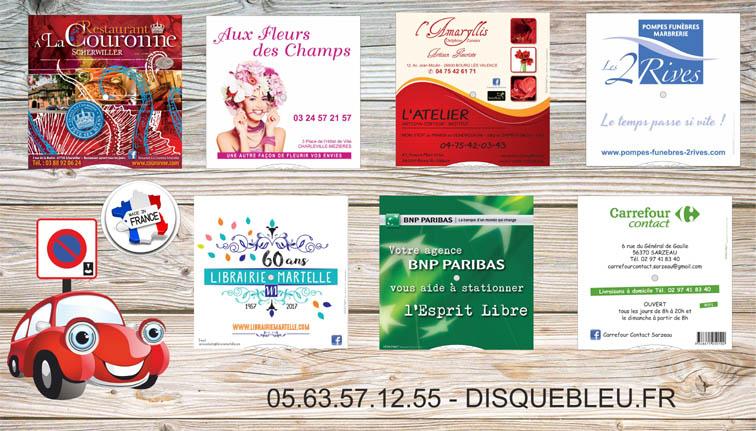disques-de-stationnement-pour-fleuriste-restaurant-banque-pompes funebres-coiffeur-librairie