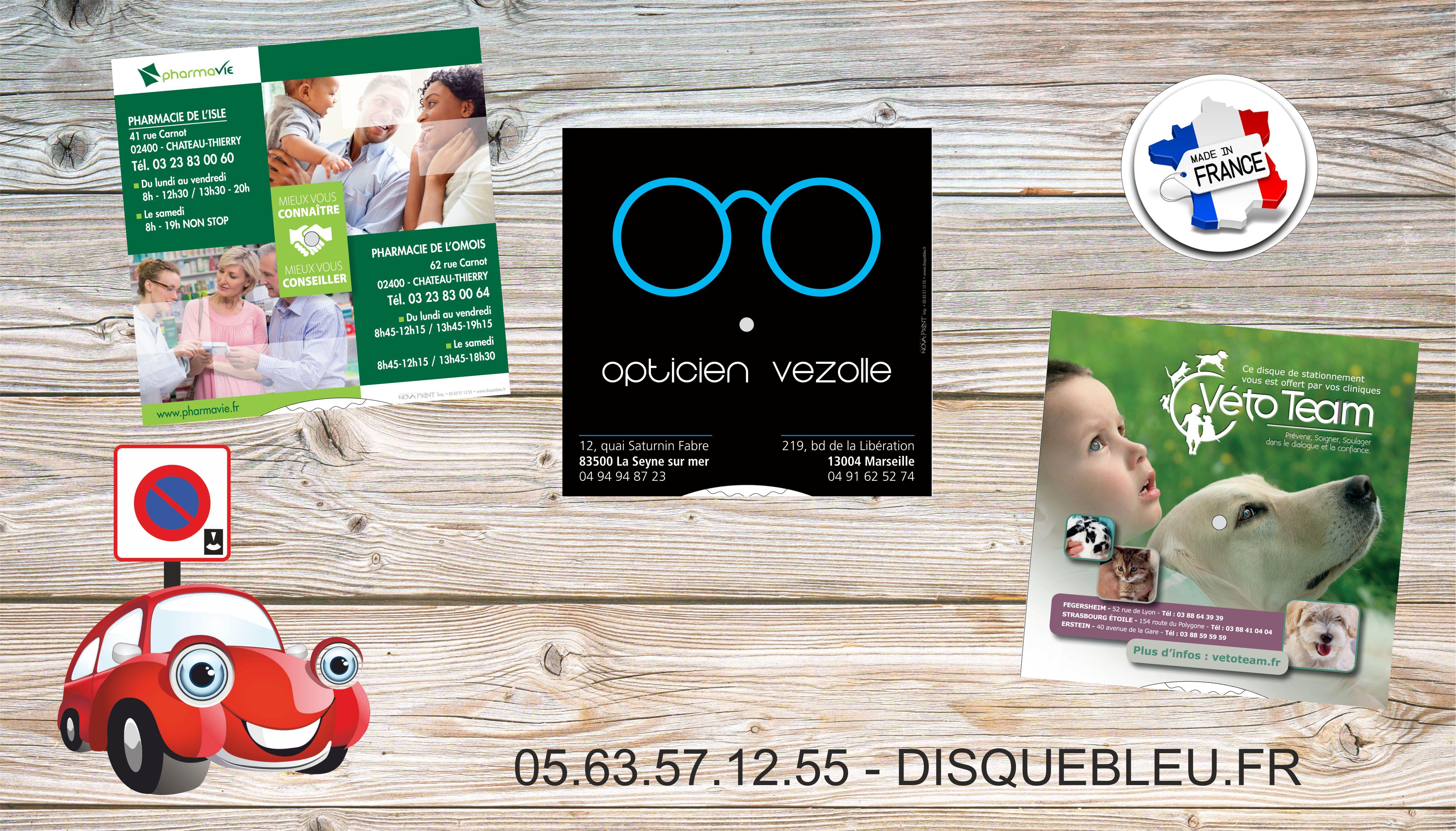 disques de stationnement personnaliseszone bleue pour professionnels de sante pharmacies opticiens veterinaires cabinets medicaux infirmers